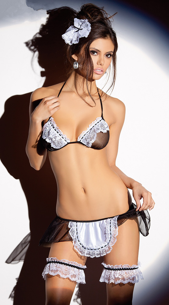 Free Ship New Arrival Sexy Maid Uniforms French Maid Bra -6875