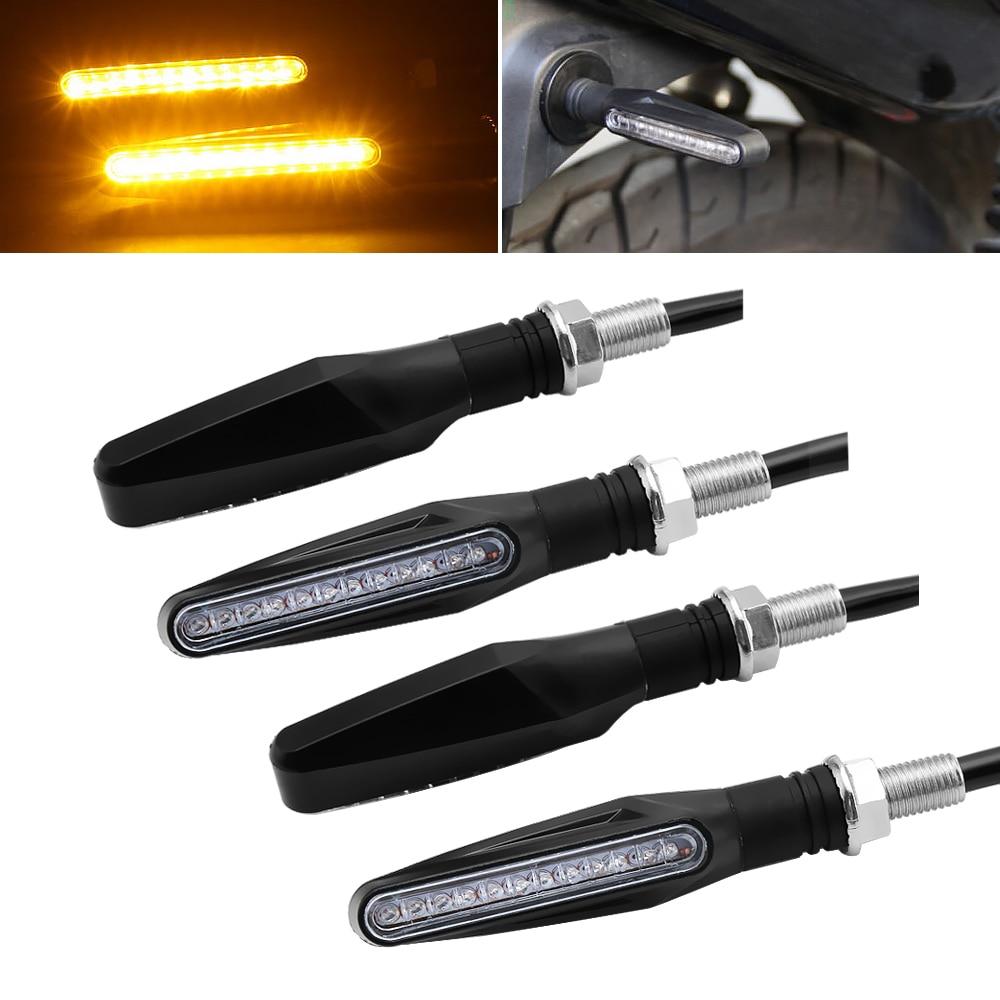 Motorcycle Turn Signal Light Flexible LED Moto Signals Light Indicators Universal Blinker Amber Flashers for Toyota
