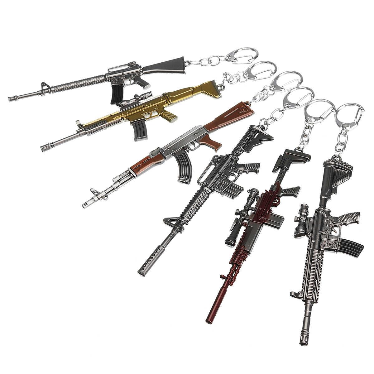 Mini liga sniper arma chaveiro chaveiro chaveiro pingentes akm arma em miniatura modelo arma modelo festa lembranças favor presente