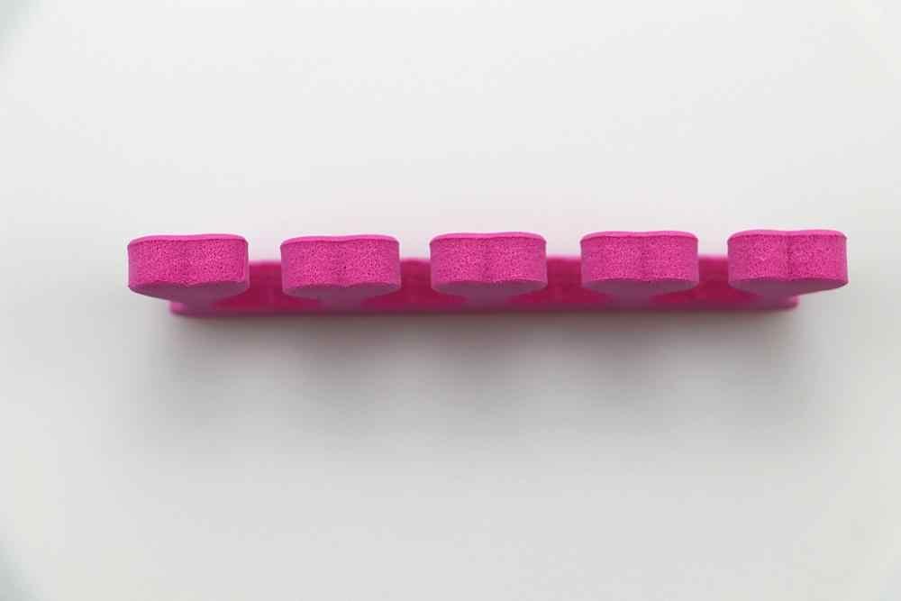 6 יח'\אריזה ורוד נייל אמנות הבהונות אצבעות מפרידי רגליות ספוג רך ג 'ל UV יופי כלים פולני מניקור פדיקור מקצועי