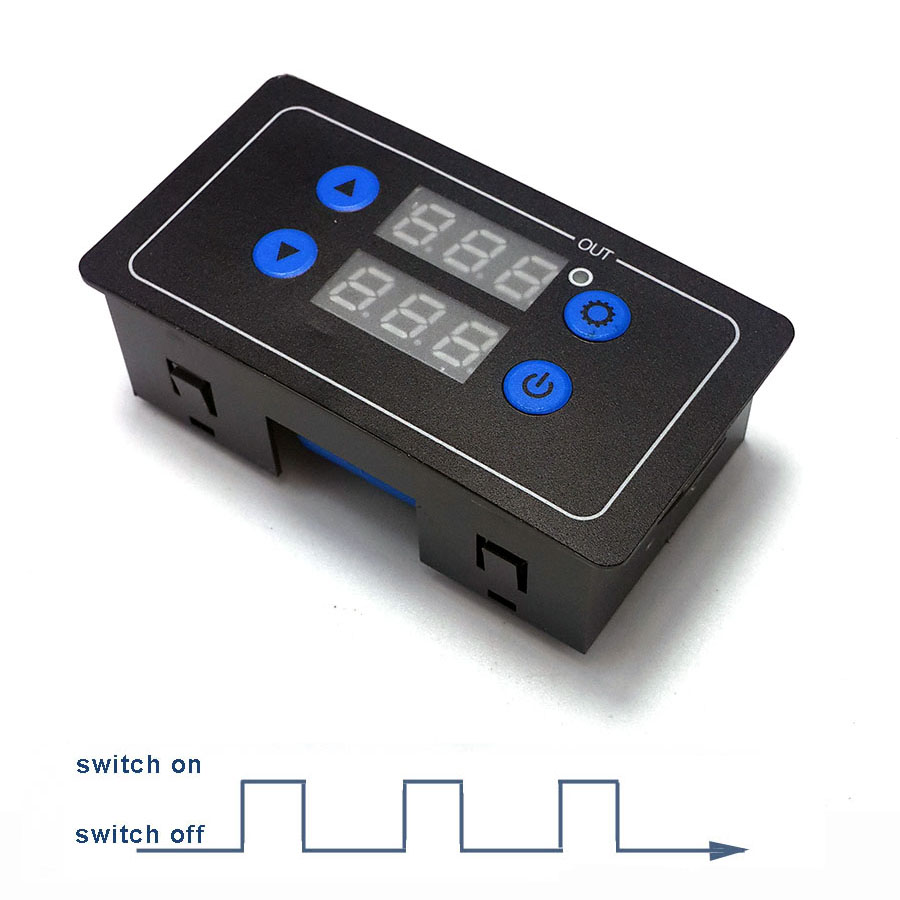 0.1s - 999h Countdown Timer Programmable Cycle Control Module, Time Relay 5V 12V 24V 220V At Your Choice