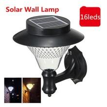 1X Outdoor Garden/Yard/Path/Patio Solar Wall Light Popular Solar lamp 3x1200mAh Ni-MH Battery Solar Lamp Decoration wall lampada