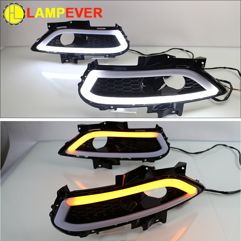 For Ford Fusion Daytime Lights DRL Fog Lamps Set Years 2013 To 2016