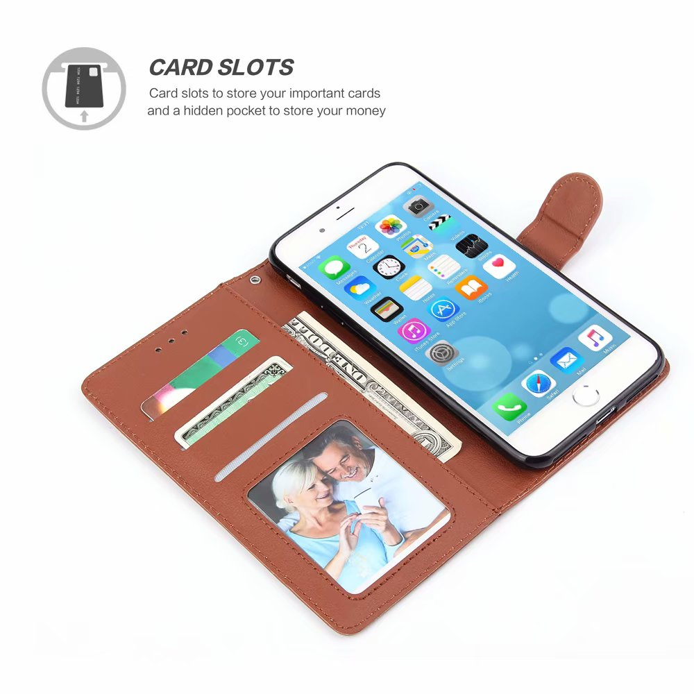 Flip cover PU leather wallet for Huawei P8 P9 P20 P10 Lite wallet bracket back cover for P30 Pro phone case in Flip Cases from Cellphones Telecommunications