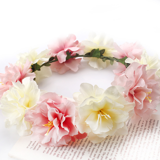 M MSIM 6 patrones flor de la boda corona diademas delicado ...