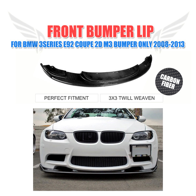 Carbon Fiber Car Front Bumper Lip Spoiler For BMW Series E - Bmw 2d