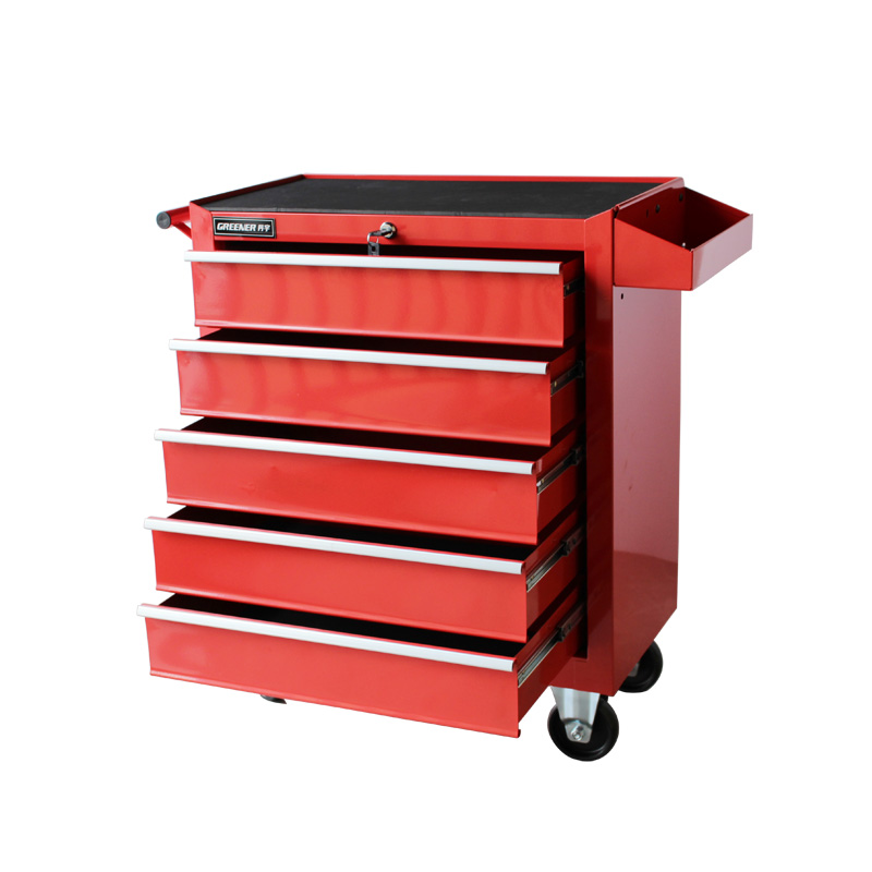 5 Drawer Red Workshop Tool Trolley