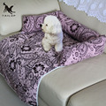 TAILUP Luxury Pet Non Slip Sofa Bed Mats 100% Cotton Dog Foldable Car Seat Cover Print Cat Bench Seat Mats