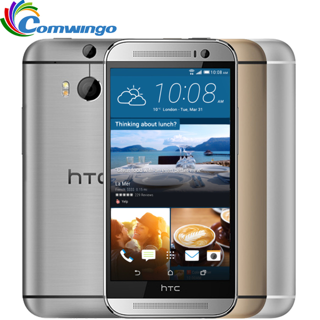 Original Unlocked HTC ONE M8 ROM 16GB & 32GB RAM 2GB Quad-Core 5.0 inch 1920*1080 5MP WIFI NFC Android 4.4 Mobile Phones
