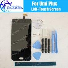 Umi Плюс ЖК-Дисплей + Сенсорный Экран 100% Оригинальный ЖК-Дигитайзер Стеклянная Панель Замена Для Umi Плюс + инструменты + клей