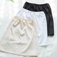 women slip inside basic skirt thin basic short underskirt elastic waist all-match half slip slip femme 188