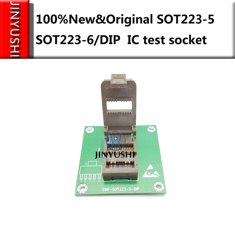 Clamshell  SOT223-5 SOT223-6/DIP  IC Burning Seat Adapter Testing Seat Test Socket Test Bench In Stock  Free Shipping