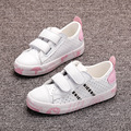 2017 Spring Kids Girls and Boys Casual Shoes Children 3 Colors Leather Shoes Sneakers Flat and Breathable Shoes