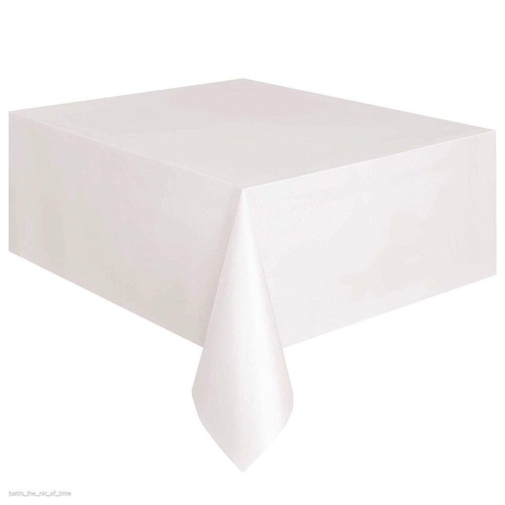 1X Rechteck Kunststoff Einweg Tischdecke Tischdecke Party Hochzeit Tücher