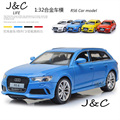 Hot New 1:32 Audi RS6 Metal Alloy Diecast Toy Car Model Miniature Scale Model Sound and Light Emulation Electric Car
