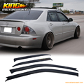 For 01 02 03 04 05 Lexus IS300 4 Door Sedan JDM Vent Window Visor 4pc
