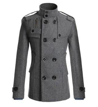 ¡Novedad de 2020! Abrigo Mao de lana para hombre de MRMT, abrigo rompevientos de lana para hombre, ropa exterior