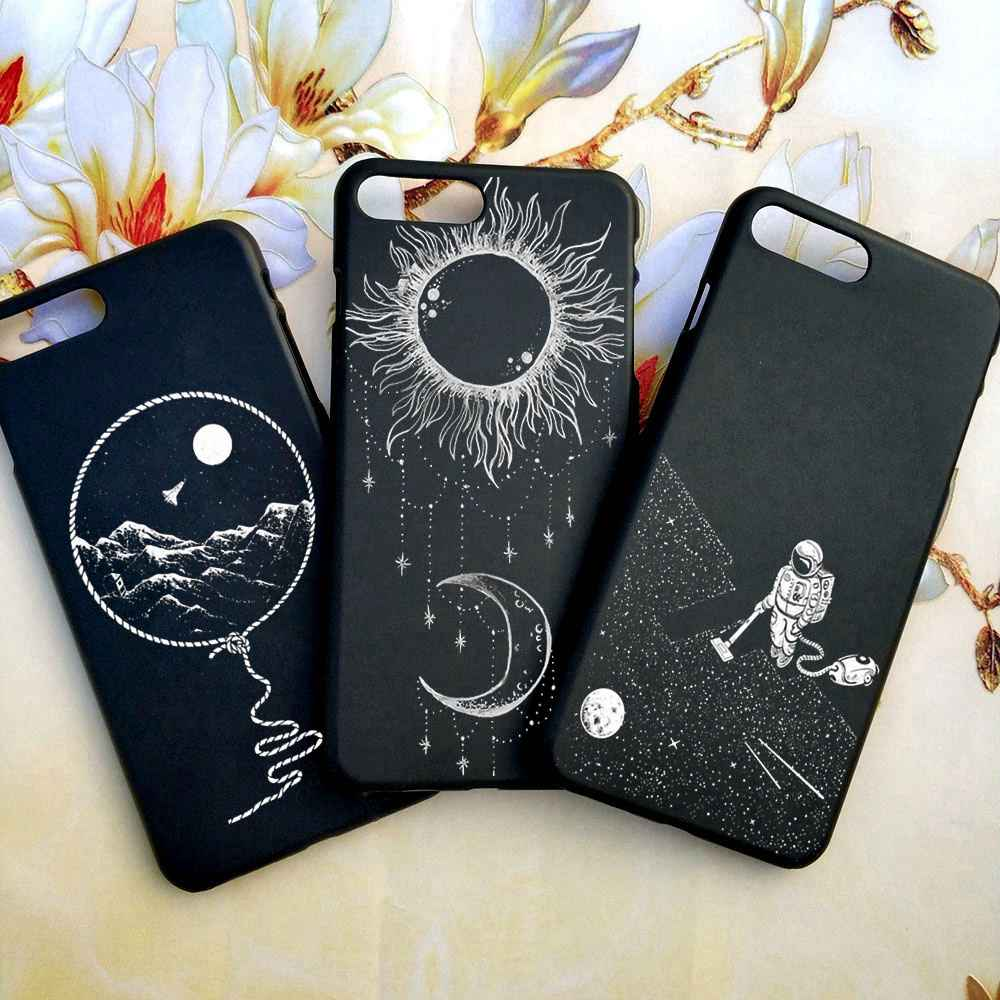 For iPhone 6s Case Tumblr Moon Space Jar Astronaut Cat