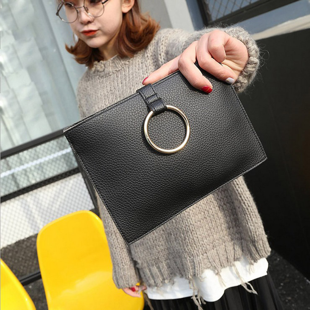 Female bag New Designe Women Wallet Vintage Standard Wallet fashion simple Envelope Pack Cell Phone Coin Purse trendy small Bag