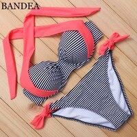 BANDEA 2017 New Sexy Bikinis Women Swimsuit Push Up Bikinis Bathing Suits Halter Summer Beach Wear Plus Size Swimwear XXL AD808