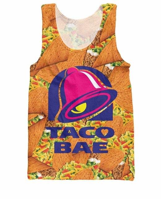 8f745a6cf2247b RuiYi Taco Bae Tank Top Taco Bell fast food royalty 3d Print Summer Style  Vest Jersey Fashion Clothing tee shirt for women men