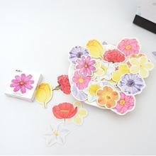45 pcs/pack Cute flowers paper sticker DIY diary album decoration stickers scrapbooking planner label Scrapbook