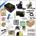 High quality Complete Tattoo Kit ,2 Tattoo Machine Set , Tattoo Equipment Power Supply Kit and tattoo ink 5ml  transfer paper