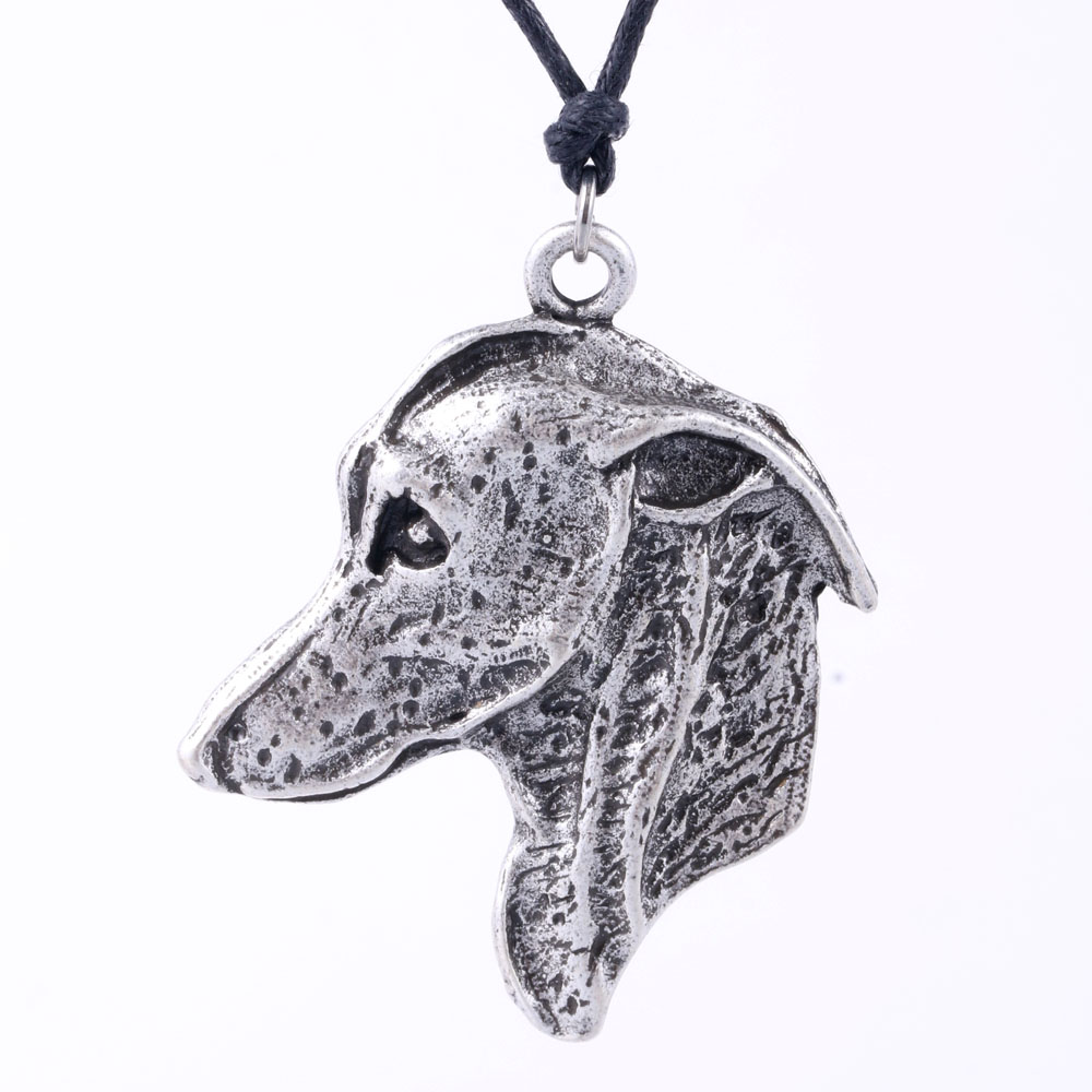 Men Women Greyhound Necklace Dog Adopt Rescue Grey Hound Shape Pet Inspired Pendant Ketting Jewelry A001 45*50mm