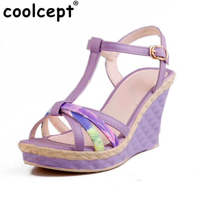 Women Wedges Sandals 2016 Sweet Casual Ladies Platform Gladiator Sandals Open Toe Flats Dress Shoes Woman Size 35-39 PA00366 vtota platform sandals summer shoes woman soft leather casual open toe gladiator shoes women shoes women wedges sandals r25