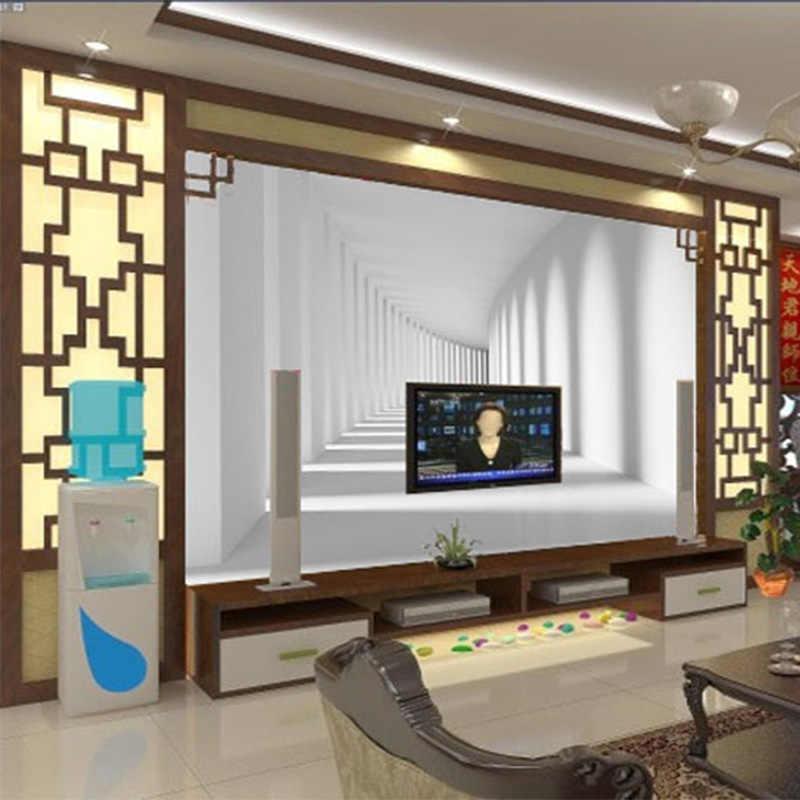 Современный простой 3D стерео абстрактное пространство обои Гостиная ТВ Спальня офисные Фон Стена Ткань обои для стен 3 D