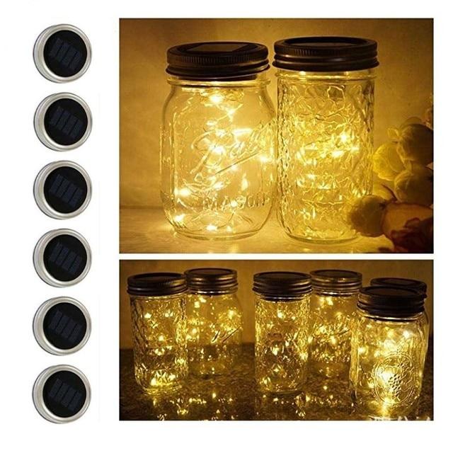 Firefly String Lights Interesting 60 Pack Mason Jar Lid Lights Fairy Firefly Lights Solar Powered