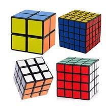 Speed Cube 2X2X2,3X3X3,4X4X4,5X5X5 Magic puzzels 2,3,4,5 Laag Cubo Magico Leren & Onderwijs Speelgoed Voor Kinderen Geschenken