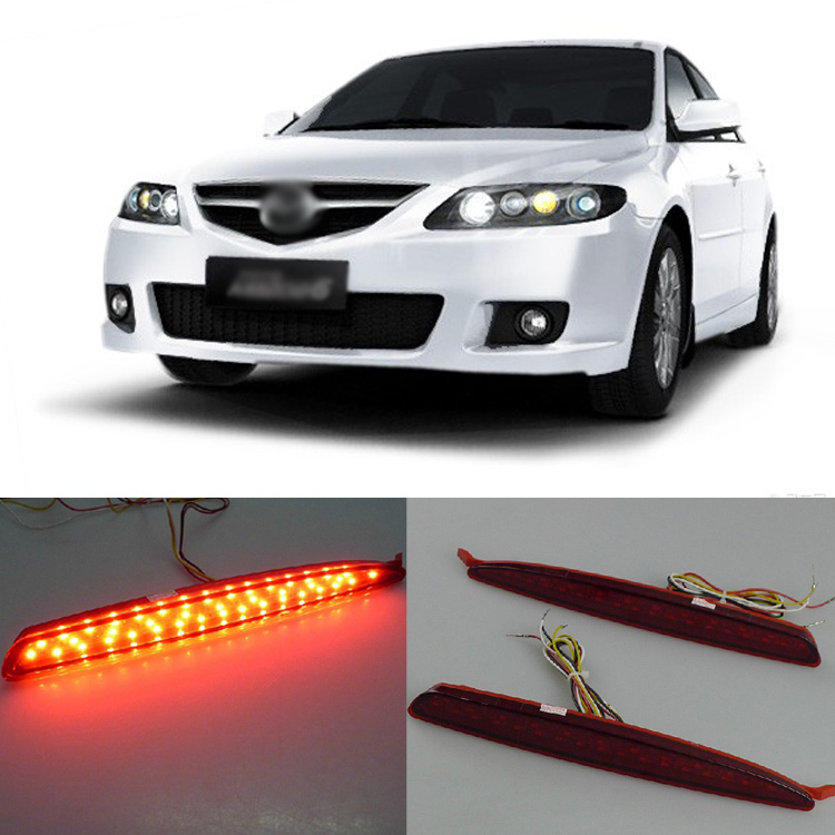 Ownsun Superb LED Reflector Rear Tail Light Bumper with Yellow Turn Signal For Mazda 6