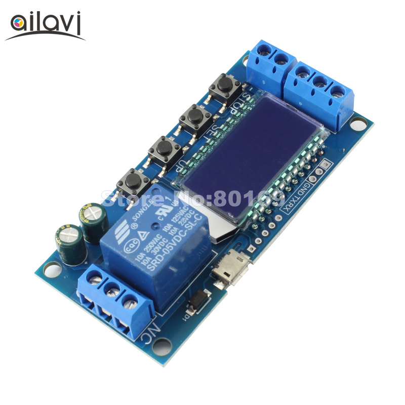 1-Channel Relay 1 Road Relay Module Cycle Timing Circuit Switch 6-30V High and Low Level Trigger Relay