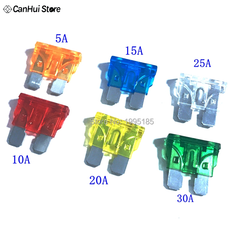 25A Glass Fuse Classic Car Auto 25 Amp 30mm Length Electronic Pack of 10