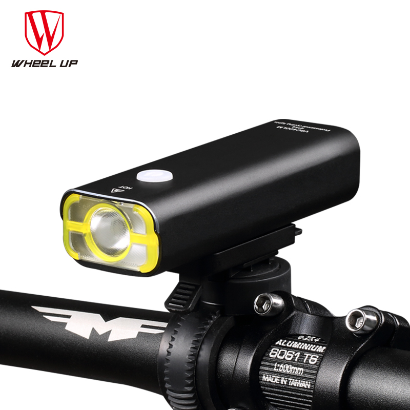 WHEEL UP Usb Rechargeable Bike <font><b>Light</b></font> Front Handlebar Cycling Led <font><b>Light</b></font> Battery Flashlight Torch Headlight Bicycle Accessories