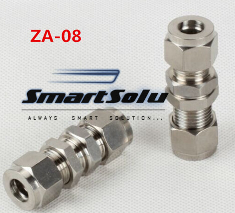 Free shipping Passthrough Stainless Steel Connector Fitting, ZA-08 Thread, Homebrew Fitting,Straight terminal fittings free shipping of 1pc hss 6542 full cnc grinded machine straight flute thin pitch tap m37 for processing steel aluminum workpiece