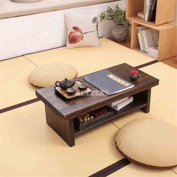 Petite Table En Bois | Nouveau Tatami Petite Table Basse Style Japonais En Bois Massif Antique Table à Thé Rectangle Table D'ordinateur Salon Table à Thé En Bois