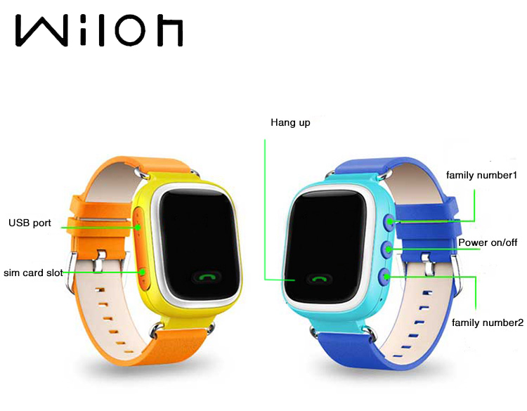 2018 GPS Tracker Watch for Kids Safe GPS Watch Q60 0.96 inch LCD smart Wristwatch SOS Call Finder Locator Tracker Anti Lost