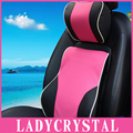 Ladycrystal Soft Breathable Car Headrest Pillow Waist Pillow Seat Supports General Car Pillows Suit For All Car