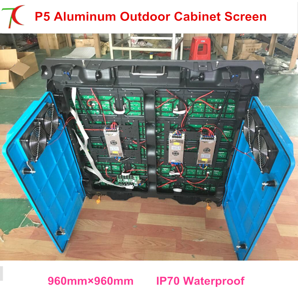 Outdoor Stage P5 Led Video Screen SMD  Led  Waterproof  Cabinets  Full Color Display Screen