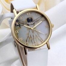 FHD 2016 Мода Ретро Стиль Циферблат Кожаный ремешок кварцевые Часы Браслет Наручные часы Наручные часы бесплатная доставка оптовые