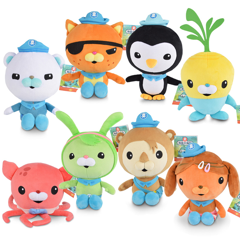 14-19CM Original Octonauts Plush toysOctoplush Peso Kwazii Captain Barnacles Soft Stuffed animal Dolls Kids Baby Birthday Gift все цены