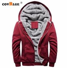 Covrlge Fashion Brand Sweatshirts Mens 2019 Winter Thicken Hoodie Men Hoodies Sweatshirt Zipper Coats Sudadera Hombre MWW173