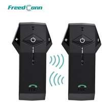 2PCS x 1000M 3 Piloti FreedConn COLO Moto Interfono Bluetooth Headset Citofono Del Casco Mani Libere Supporto NFC Tech