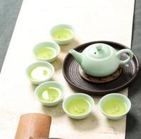 Wholesale Chinese Celadon Tea Sets 6pcs Teacup 1pcs Teapot Kung Fu Tea The Highest Sales Of