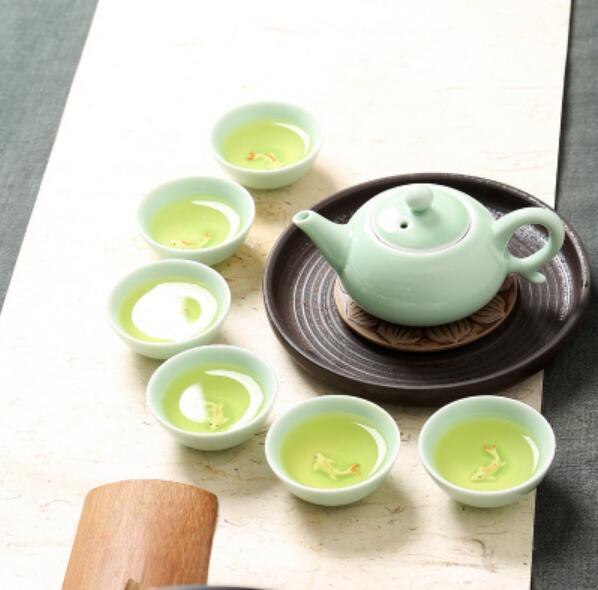 wholesaleaji me shumicë kineze Celadon vendos 6 copë çaji 1 copë - Kuzhinë, ngrënie dhe bar - Foto 1
