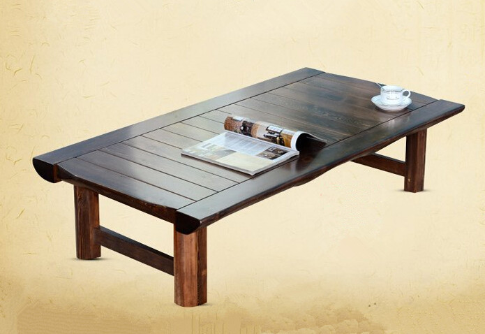 Japanese Floor Table Rectangle Asian Antique Home Furniture Traditional  Living Room Solid Wood Low Tea Table For Dinning