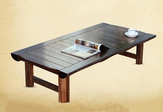 Antieke kleur rechthoek aziatische thee tafel houten meubels