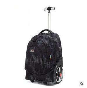 Image 5 - Sac à dos à roulettes pour adolescentes, 18 pouces, sac à dos à roulettes pour filles, pour enfants, sacs à rouler